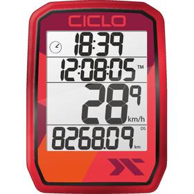 Ciclosport Protos 105 Fietscomputer, rood
